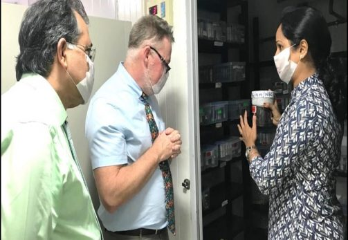 Skin bank visit by Dr. James J. Gallagher from Cornell Presbyterian Hospital, USA-01