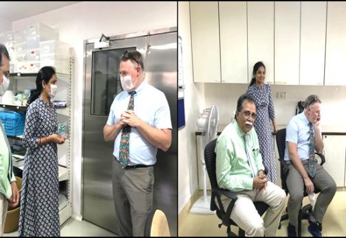 Skin bank visit by Dr. James J. Gallagher from Cornell Presbyterian Hospital, USA-02